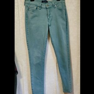 📚 Levi's 535 Green Jeans Legging Super Cute EUC